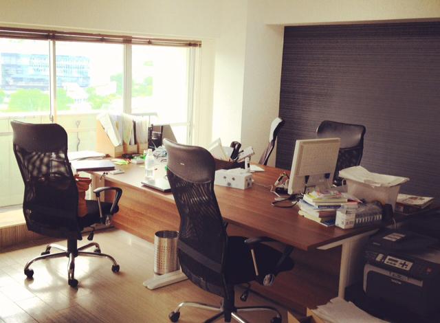 「カオナビ」リリース時のオフィス。マンションの一室からスタート